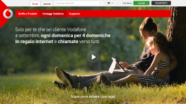 Domeniche in Regalo con Vodafone: Internet e chiamate Gratis
