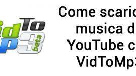 Vidtomp3: il sito web per scaricare musica da Youtube