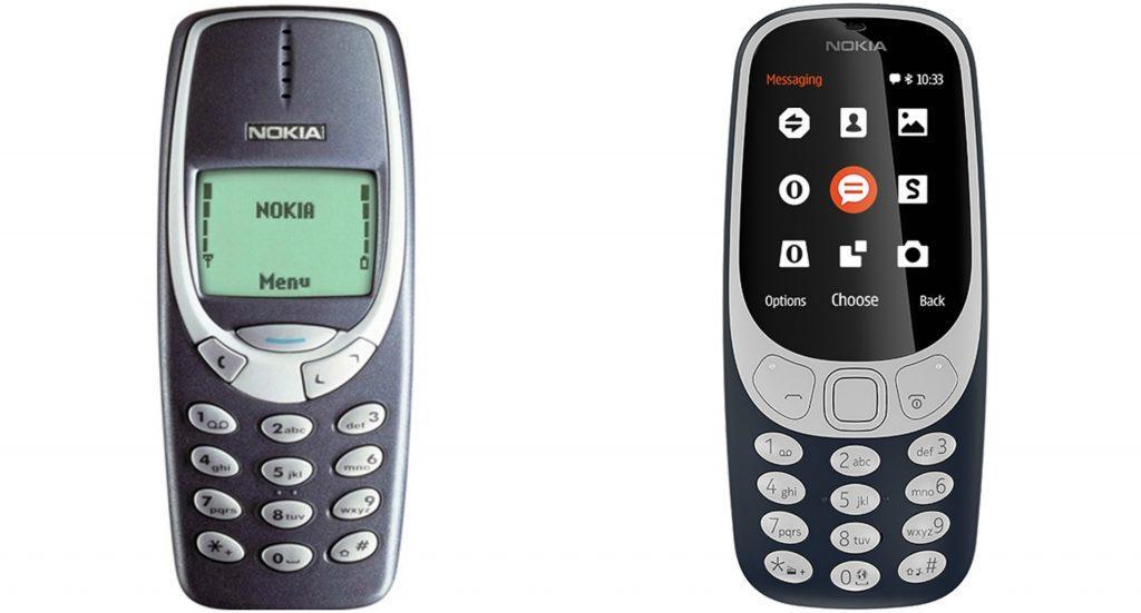 Nokia 3310 vs Nokia 3310 2017
