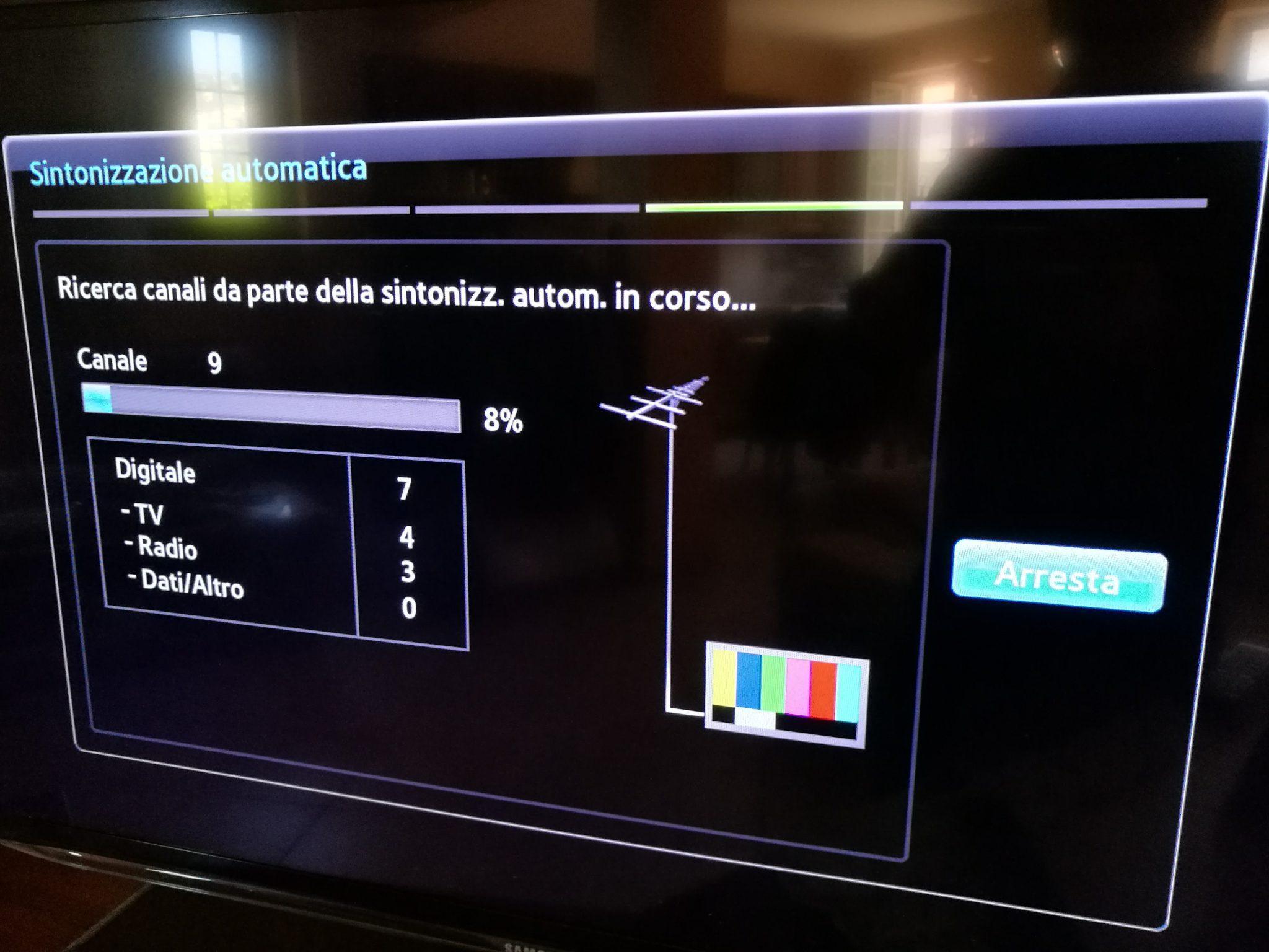 Nuovi canali digitale terrestre