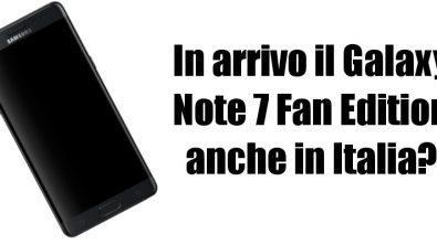 Samsung Galaxy Note 7 Fan Edition Italia