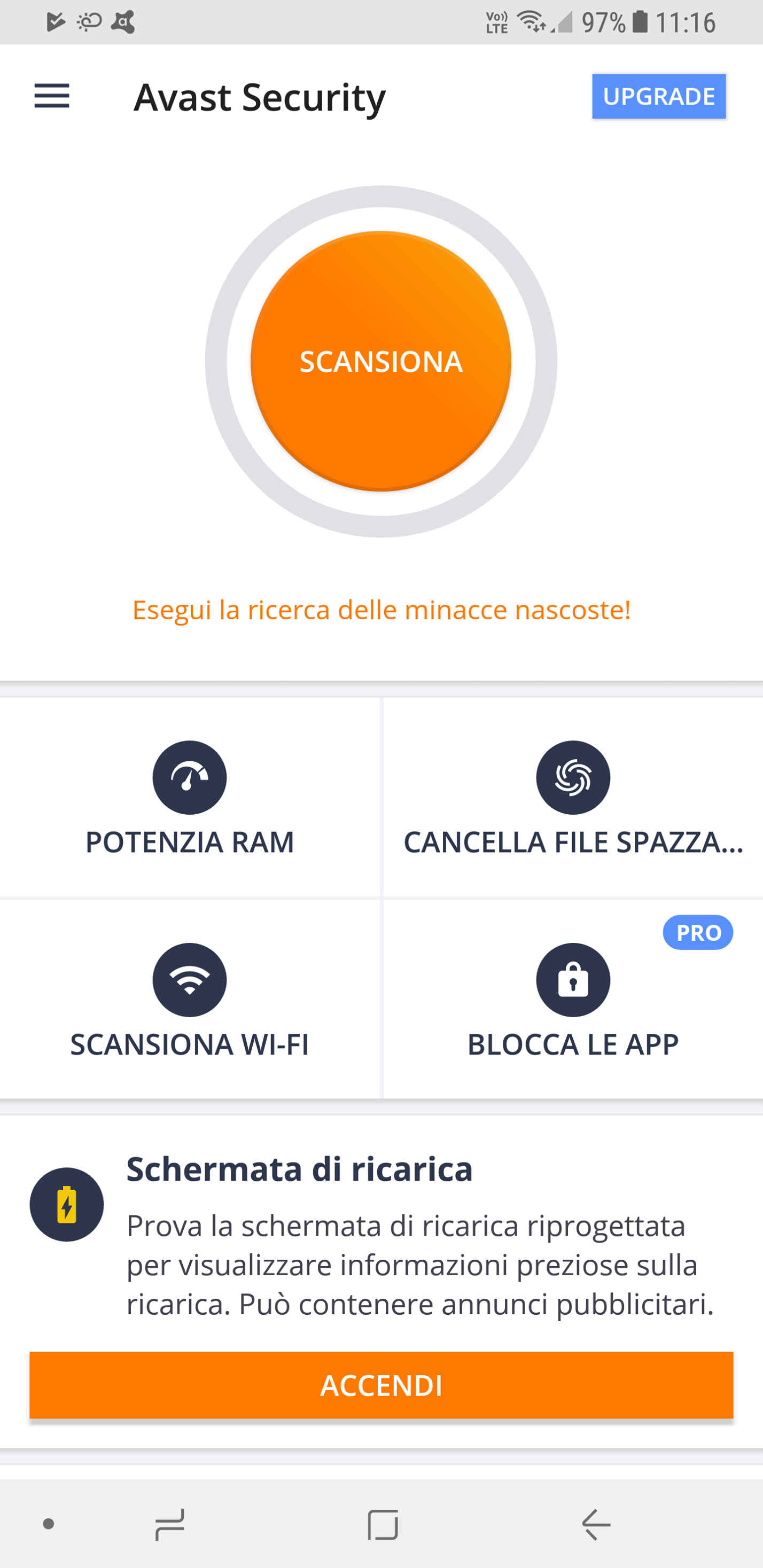 Avast mobile per smartphone Android
