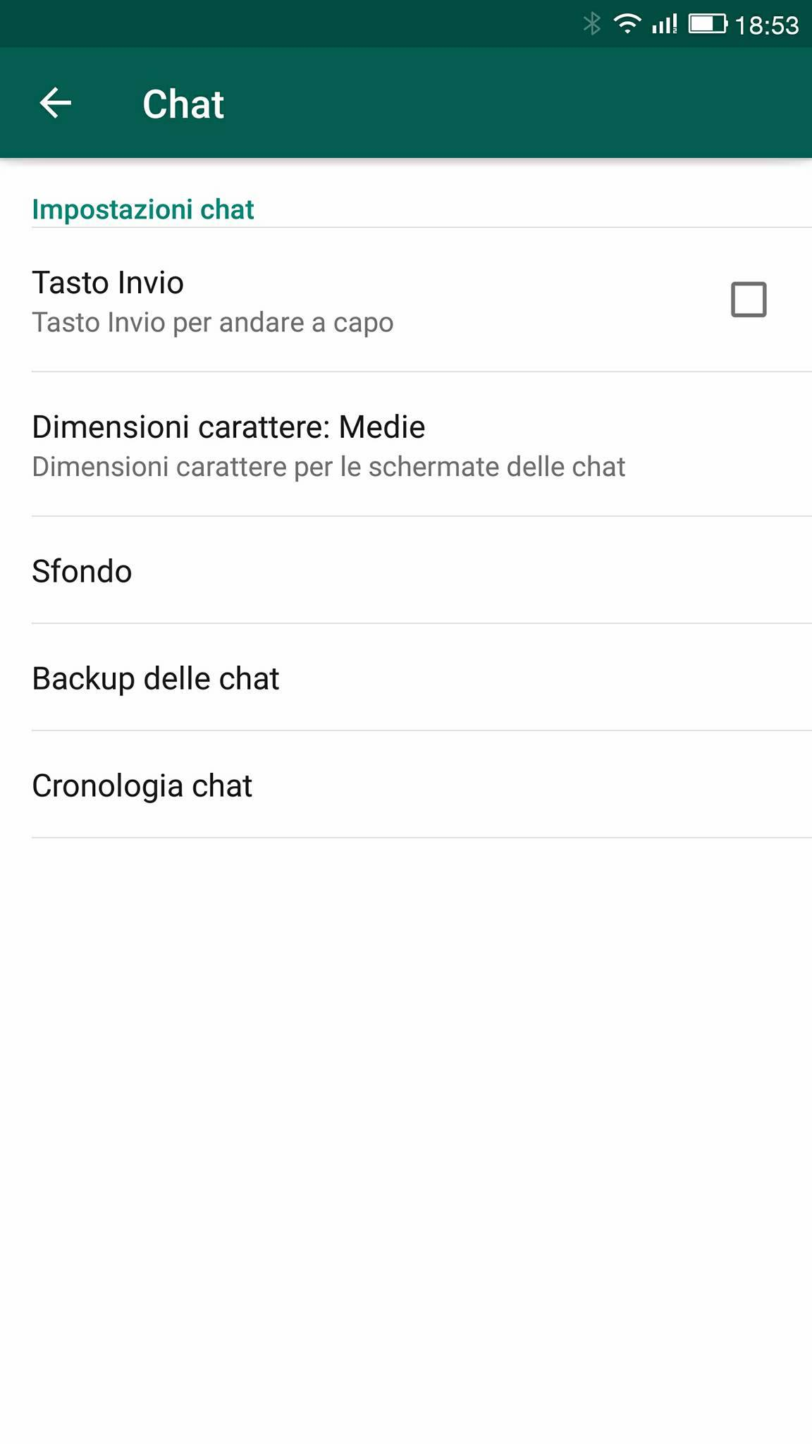 Backup della chat Whatsapp