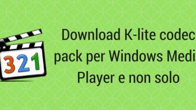 Come scaricare K-lite codec pack