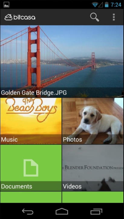 Bitcasa Android