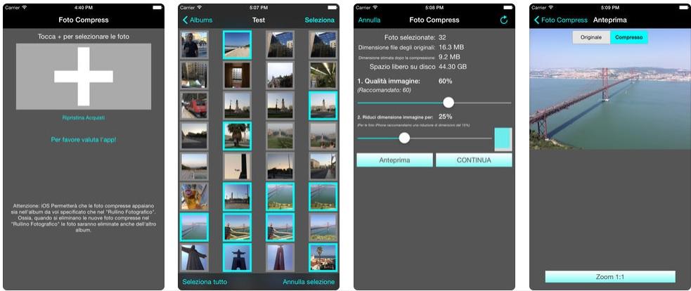Foto compress iOS