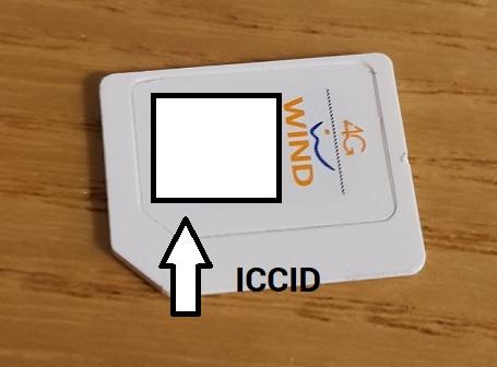numero seriale SIM ICCID