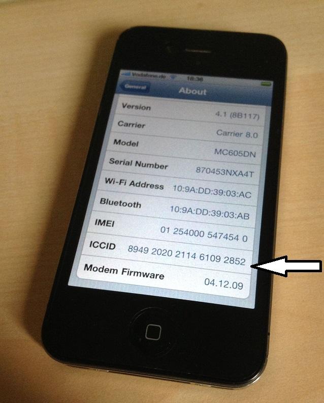 ICCID iphone