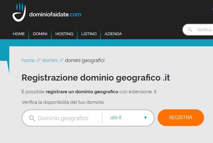dominiofaidate dominio geografico
