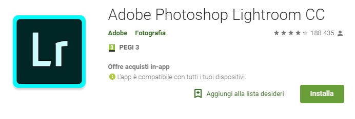 Adobe Photoshop Lightroom CC Android