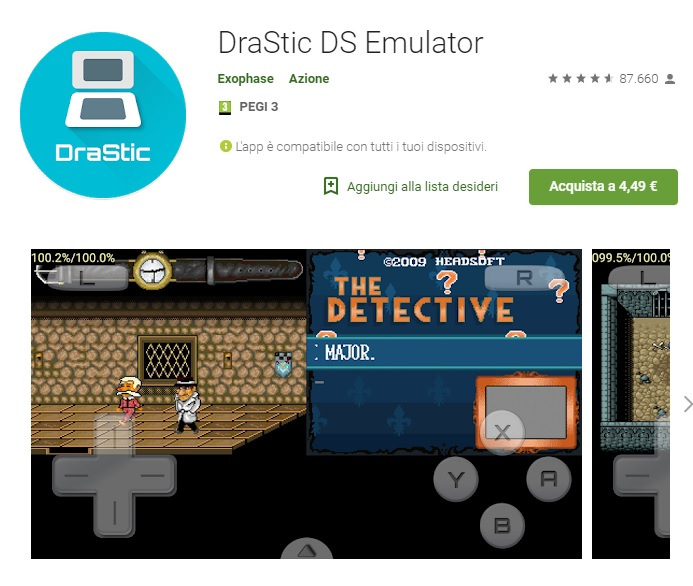 Drastic DS emulator per Android