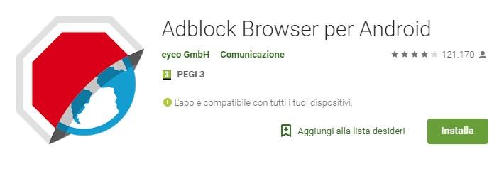 Adblock per Android