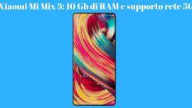 Xiaomi Mi Mix 3 ufficiale